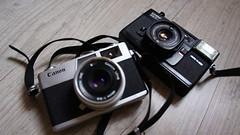 Chinon 35F-EE Canon Canonet 28 (Fuuuuuunk) Tags: camera old canon 28 canonet chinon 35fee telemetre