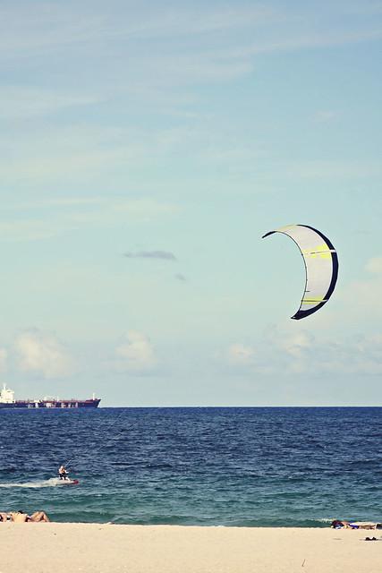 Fort Lauderdale beach kitesurfer 11