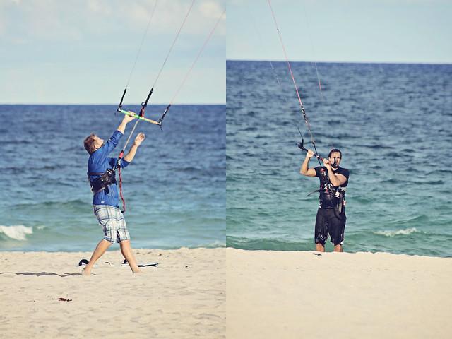 Fort Lauderdale beach kitesurfer portrait diptych