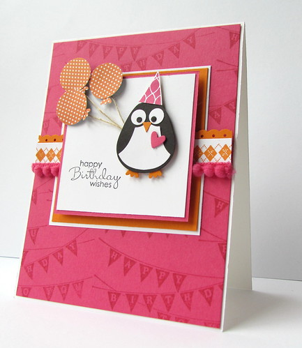 Punch Art Penguin and Patterned Party
