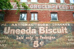 Uneeda Biscuit (pjpink) Tags: brick fall sign virginia october painted richmond advertisement biscuit rva churchhill uneeda 2011 pjpink