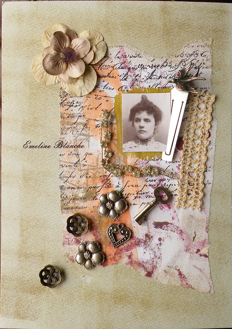 Emeline Blanche (Arty collage)