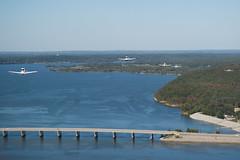 Over the Bridge (spmcfarland) Tags: lake oklahoma plane airplane aircraft sony amphibian alpha seaplane cookson tenkiller snakecreek a850
