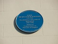 Photo of William Blackstone blue plaque