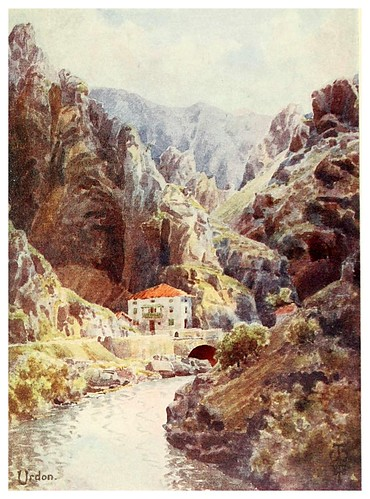 016-Garganta del rio Deva en Urdon-Northern Spain painted and described-1906- Edgar Thomas Ainger