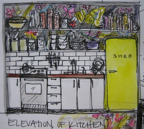 Elevation of Kitchen: Molly Albers