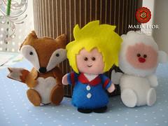 Ownnnn (mariafloratelier2) Tags: baby babies prince felt fox feltro ovelha raposa pequenopríncipe foxfelt