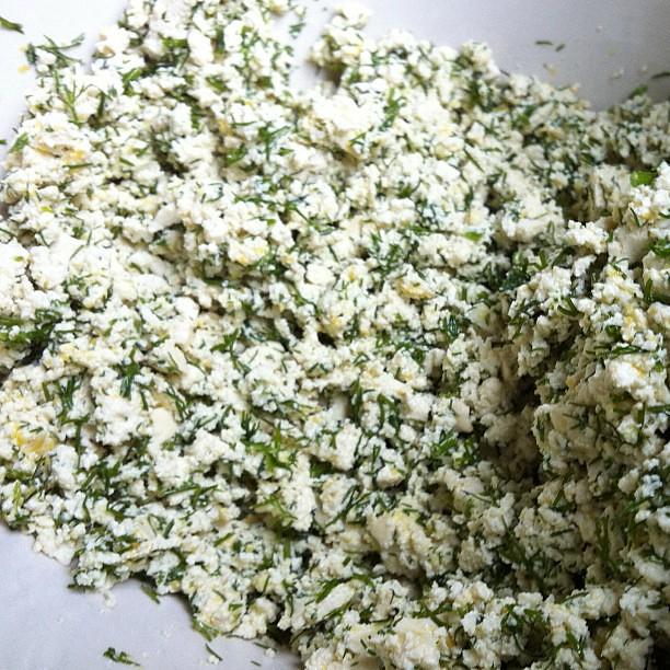 Dill-lemon tofu ricotta