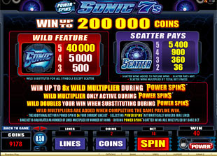 free Power Spins Sonic 7s slot mini symbol