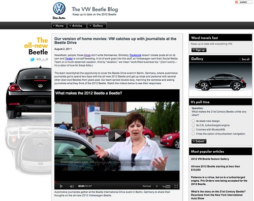 VW's version of home movies: VW catches up with journalists at the Beetle Drive by stevegarfield