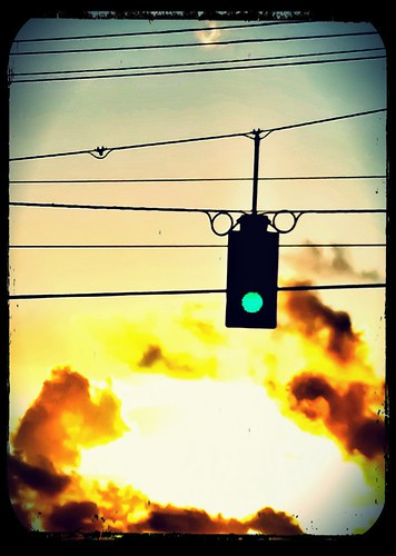 108/365- Green light by elineart