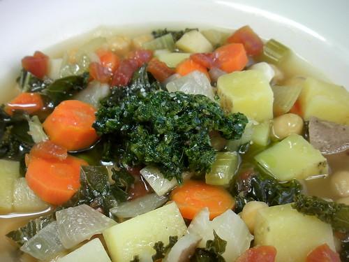 veg soup w/tarragon pistou