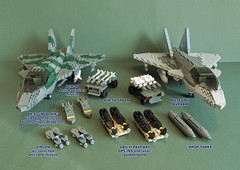 Ordnance layout (Aleksander Stein) Tags: lego military air delta swing eurofighter strike tempest dominance canard role ids ndc interdictor