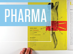 Pharma promotional image (Herb Lubalin Study Center) Tags: exhibition 1949 pharma penicillin scopemagazine lesterbeall herblubalinstudycenter