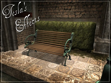 Park Bench (copper oxide) by Cherokeeh Asteria