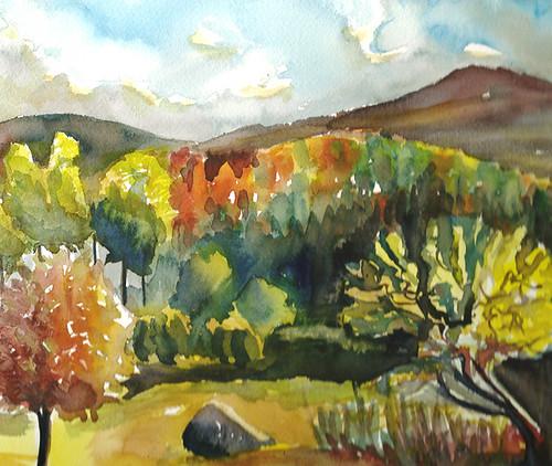 Landscape, plein air, Vermont