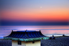 0127 68 Crescent B s (B Michael) Tags: sunset seaside brighton crescent hut brightonbeach hdr