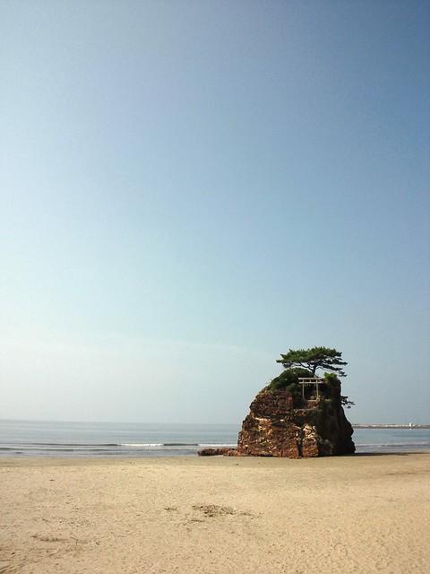 稲佐の浜 なう 日本の渚百選