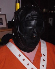 Bondage 2 (bondagehaj) Tags: mask bondage hood prisoner inmate humane restraint segufix