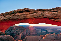 Crest, Mesa Arch, Canyonlands National Park (Jared Ropelato) Tags: park trip morning travel light vacation nature rock sunrise landscape photography utah nationalpark sandstone illumination conservation environmental arches canyon hike adventure canyonlandsnationalpark canyonlands environment redrock archesnationalpark nationalparks mesa dreamscape illuminate dreamscapes mesaarch 2011 ropelato jaredropelato ropelatophotography