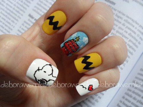 Nail Art - Snoopy Lovers (Especial dia das crianças) by DéboraWernke