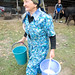 Galima Muhametarimovna milks her cows each morning, contributing the milk to a local Milk Collection Center