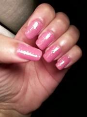 Nude + Glitter (EvelynOliveiira) Tags: nail unha esmalte francesinha