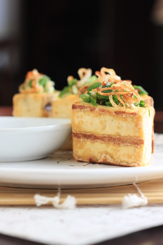 Grilled Tofu with Lemongrass and Cilantro Stuffing