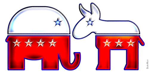 republican elephant democratic donkey icons a photo on flickriver