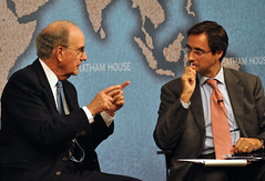 Senator George Mitchell and Dr Robin Niblett (Chatham House, London) Tags: chathamhouse internationalrelations internationalaffairs royalinstituteofinternationalaffairs