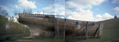 Boat / Springvale / New Zealand (Matthew McCutcheon) Tags: newzealand film analog mediumformat matt boat aperture kodak matthew doubleexposure otago centralotago brownie epson aotearoa quintin 120mm springvale rollfilm v700 mccutcheon multiframes kodakbrownieflash