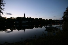 Trondheim (CarloAlessioCozzolino) Tags: sunset norway reflections river boat barca tramonto fiume trondheim riflessi norvegia nidelva the4elements colorphotoaward cattedraledinidaros