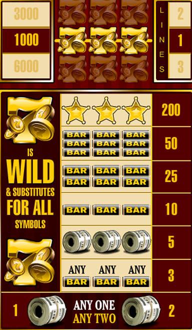 free Bankroll Reload 3 Lines slot game symbols