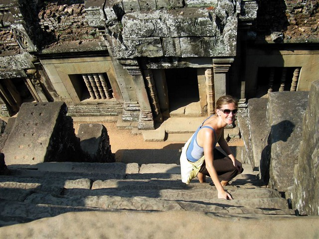 Steps at Angkor Temple