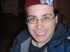 Brandon Pierce (markmonlux) Tags: cafe brandon claw fez pierce tacoma halloweenie initiation 2011 amocat openswim cartoonistsleagueofabsurdwashingtonians
