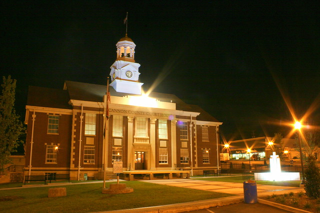 Cannon County Courthouse at Night (2011) - Woodbury, TN