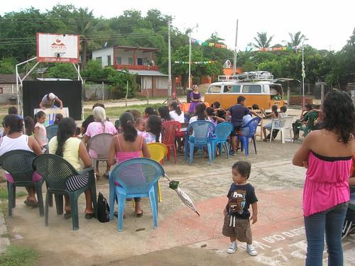 Función en San Isidro - Oaxaca.
