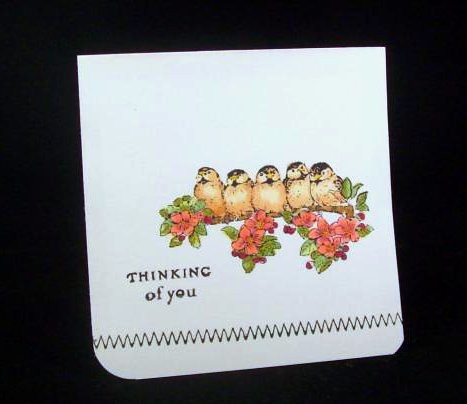 Penny Black Simple Card by judkajudy