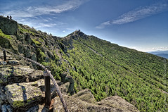 Stairway Ridge Trail on Whiteface Mountain, NY (Micha67) Tags: woman newyork mountains nature girl clouds fence landscape michael nikon rocks micha newyorkstate adirondack schaefer d300 highpeaks whitefacemountain ptf stairwayridgetrailatwhitefacemountain