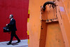 . (ngravity) Tags: street red orange color canon sweden stockholm candid colorphotography streetphotography walker nocrop eos50d thedefiningtouch deftouch makrygiannakis