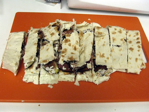 Sliced Bacon, Fig and Goat Cheese Lavash Sandwich