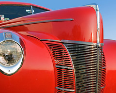 Big Red: 1940 Ford Coupe (StGrundy) Tags: auto red usa classic ford car rural ga vintage georgia nikon automobile shiny colorful unitedstates antique south 1940 southern chrome headlight grille coupe v8 carshow fenders polished labordayweekend appalachianmountains pinemountain callawaygardens d80 stgrundy skyhighhotairballoonfestival artistoftheyearlevel3