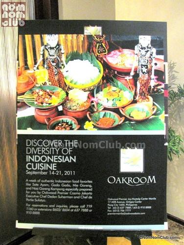 Oakroom Restaurant Indonesian Food Festival