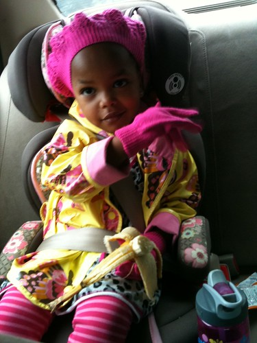 she insisted on gloves today, for herself and her ababi