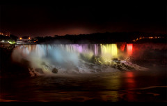 Niagara Falls night view (The stranger...) Tags: new vacation toronto canada reflection colors canon colorful long exposure natural location falls silence colored  tornto