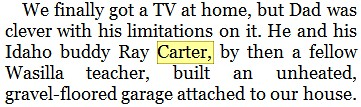 CARTER - Going Rogue excerpt