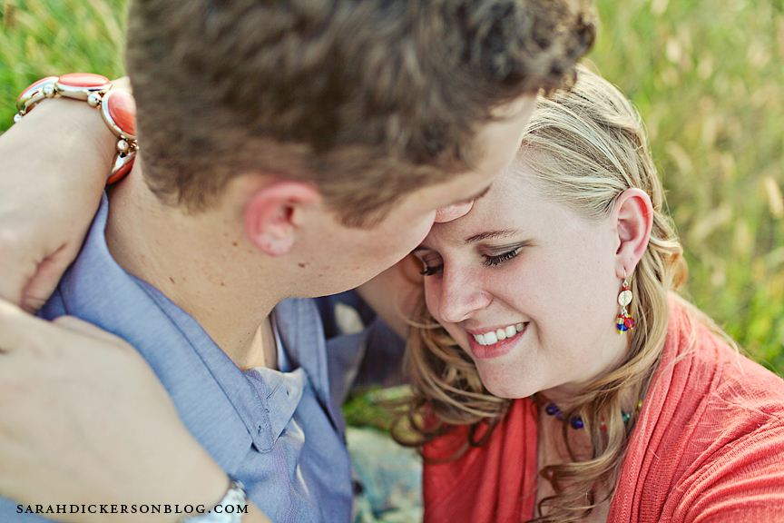 Shawnee Mission Park engagement photograph