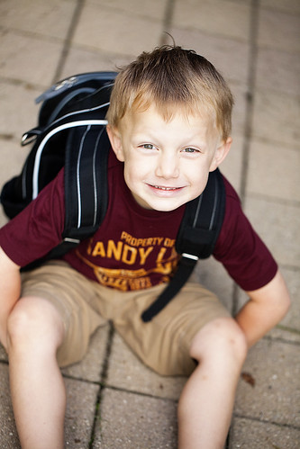 First day of preschool, 2011