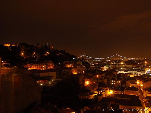 Lisbon under the night sky, June 2009