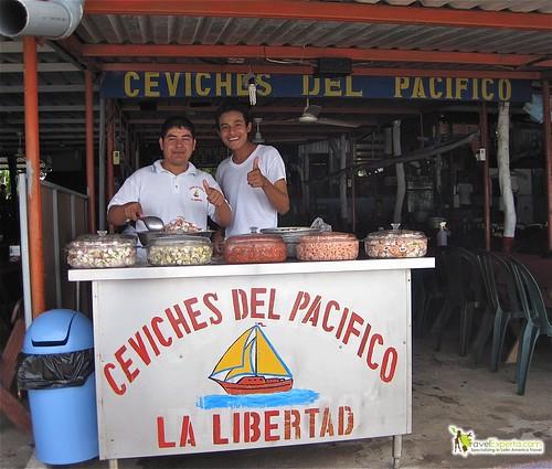 fresh ceviche vendors local seafood market la libertad el salvador
